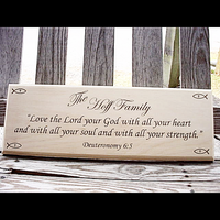 Personalized Family Solid Basswood Sign