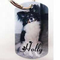 Pet Memorial Dog Tag Keychain - Enchanted Memories, Custom Engraving & Unique Gifts