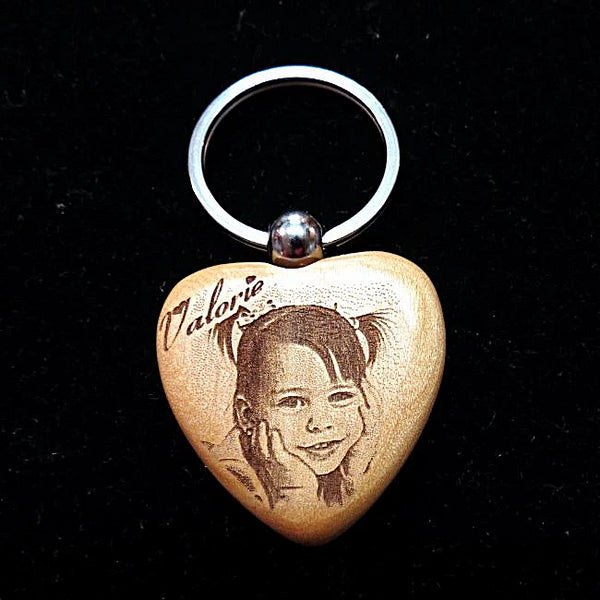 Our keychain engraved with your picture is a perfect affordable photo gift, etched picture key chain, personalized keychain | Enchanted Memories