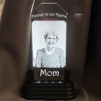 Personalized Picture Memorial Gift Light Up for Your Loved One. Our sympathy photo gift commemorates a beautiful life.