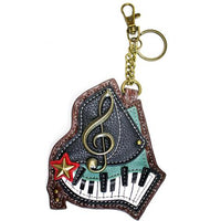 CHALA Piano Key Fob, Coin Purse, Purse Charm - Enchanted Memories, Custom Engraving & Unique Gifts