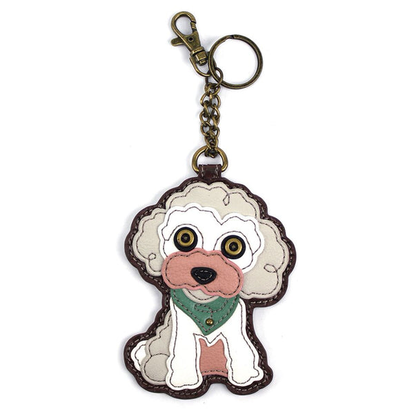 CHALA Poodle Key Fob, Coin Purse, Purse Charm - Enchanted Memories, Custom Engraving & Unique Gifts