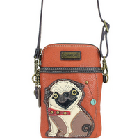 CHALA Crossbody Cell Phone Case - Pug - Enchanted Memories, Custom Engraving & Unique Gifts