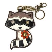 CHALA Raccoon Key Fob, Purse Charm - Enchanted Memories, Custom Engraving & Unique Gifts