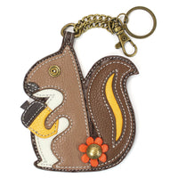 CHALA Squirrel Key Fob, Coin Purse, Purse Charm - Enchanted Memories, Custom Engraving & Unique Gifts