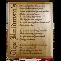 Personalized Family Name Poem Plaque - Enchanted Memories, Custom Engraving & Unique Gifts