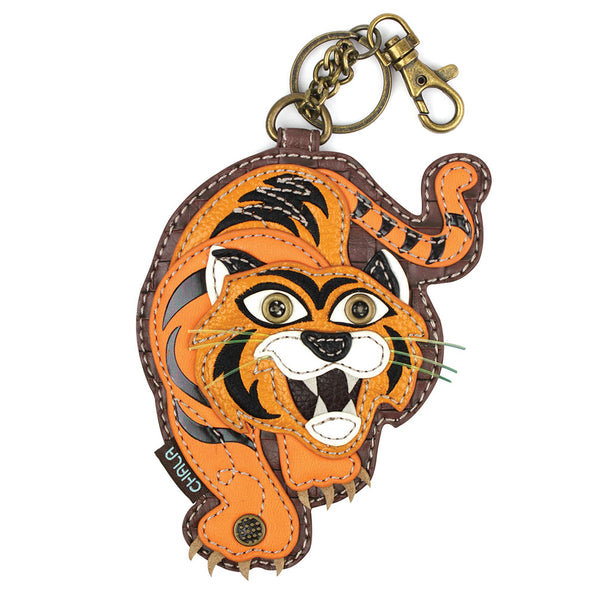 CHALA Tiger Key Fob, Coin Purse, Purse Charm - Enchanted Memories, Custom Engraving & Unique Gifts