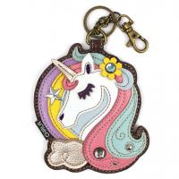 CHALA Unicorn Key Fob, Coin Purse, Purse Charm - Enchanted Memories, Custom Engraving & Unique Gifts