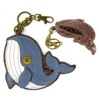 CHALA Whale Key Fob, Coin Purse, Purse Charm - Enchanted Memories, Custom Engraving & Unique Gifts