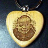 Our keychain engraved with your picture is a perfect affordable photo gift, etched photo key chain, personalized keychain | Enchanted Memories