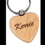 Engraved Wooden Photo Keychain - Enchanted Memories, Custom Engraving & Unique Gifts