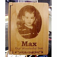 Personalized Wood Photo Album - Enchanted Memories, Custom Engraving & Unique Gifts