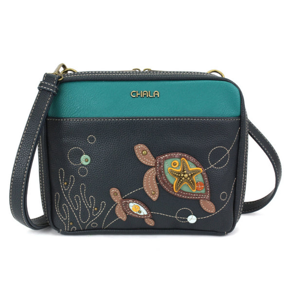 CHALA Companion Organizer Crossbody Purse - Turtles | Enchanted Memories Custom Engraving & Unique Gifts