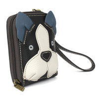 CHALA Cute-C Credit Card Holder Wallet Boston Terrier - Enchanted Memories, Custom Engraving & Unique Gifts