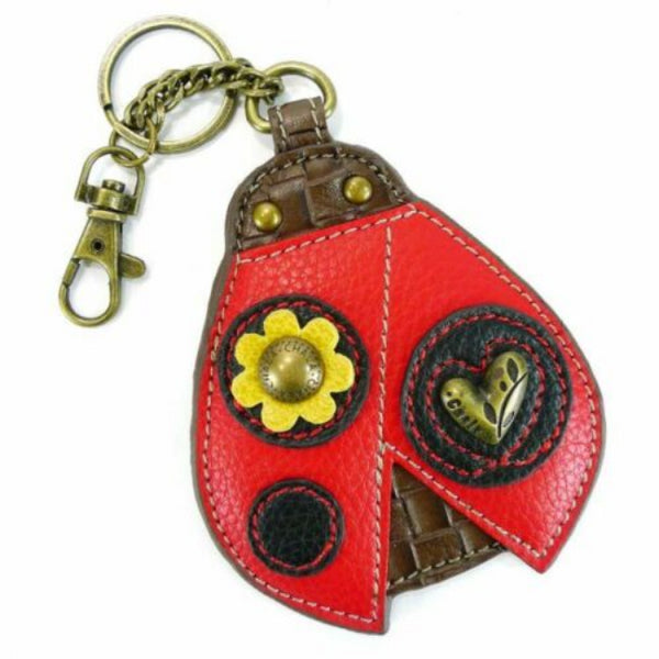 Chala Ladybug Keyfob Coin Purse Charm Perfect for Ladybug Lovers | Enchanted Memories, Custom Engraving & Unique Gifts