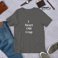 I Heart Old Crap Custom T-Shirt - Enchanted Memories, Custom Engraving & Unique Gifts