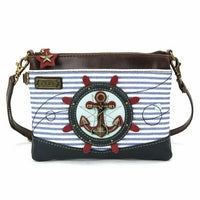 CHALA Mini Crossbody Black and Anchor - Enchanted Memories, Custom Engraving & Unique Gifts