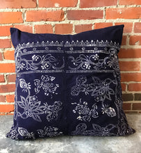 Load image into Gallery viewer, Vintage Batik Fabric Pillow