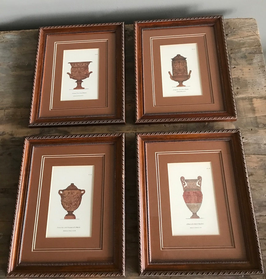 Vintage Framed Architectural Prints