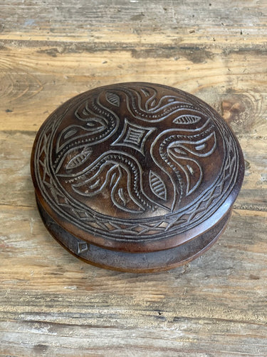 Round Carved Box