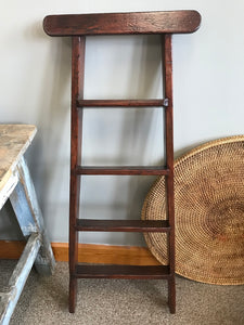 Antique Victorian Wooden Library Ladder