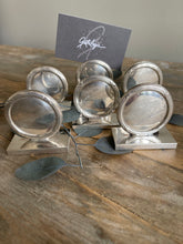 Load image into Gallery viewer, Set of 6 Silver Place Card Holders