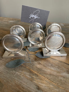 Set of 6 Silver Place Card Holders