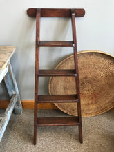 Load image into Gallery viewer, Antique Victorian Wooden Library Ladder
