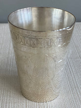Load image into Gallery viewer, Silver Plated Engraved Cup