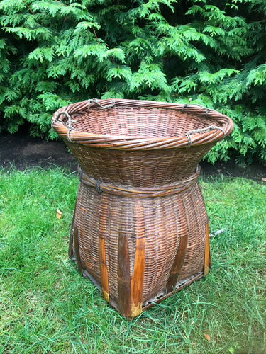 Bamboo and Rattan Storage Basket