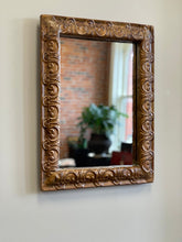 Load image into Gallery viewer, Repousse Pressed Tin Bevel Edged Mirror