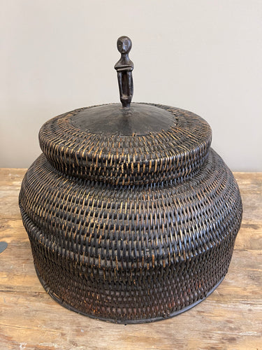 Woven Coil Rice Storage Basket