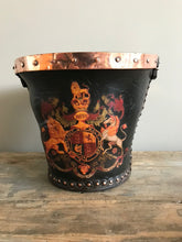 Load image into Gallery viewer, Leather Studded Fire Bucket