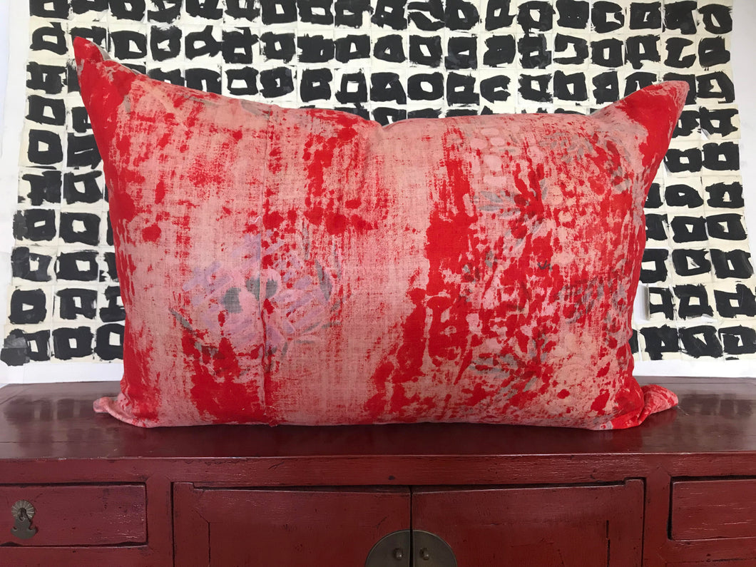 Vintage Asian Textile Pillow #2