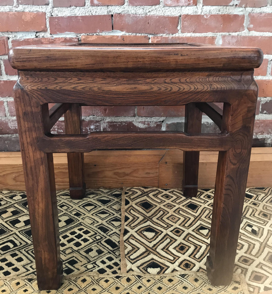 Antique Asian Stool- Vintage Top