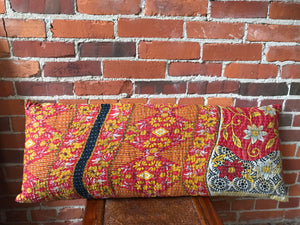 Kantha Inspired Lumbar Pillow