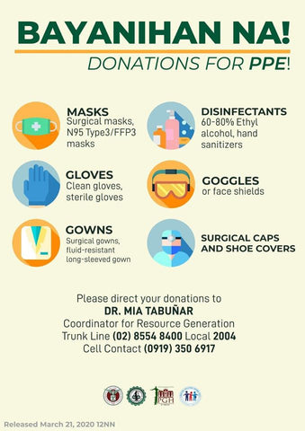 Bayanihan Na! Donations for PPE
