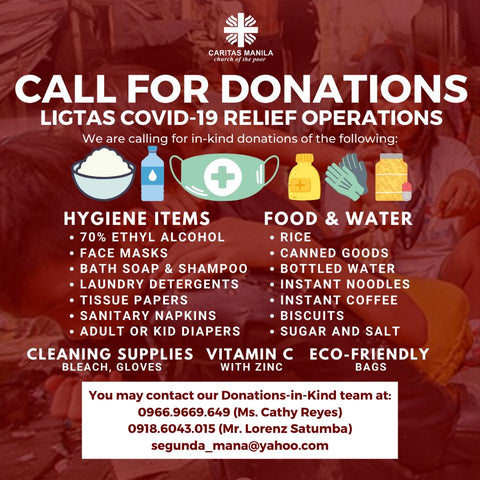 Caritas Manila - Call for Donations