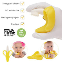 Load image into Gallery viewer, Infant Baby Teether Toy Silicone Banana Corn Baby Teethers Toy Soothing Teething Pacifier Chew Infant Oral Tooth Brush 7-9Months