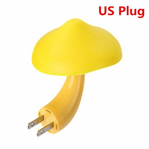 LED Night Light Mushroom Wall Socket Lights Lamp for Bedroom Home Decoration with EU US Plug Baby Sleeping Light