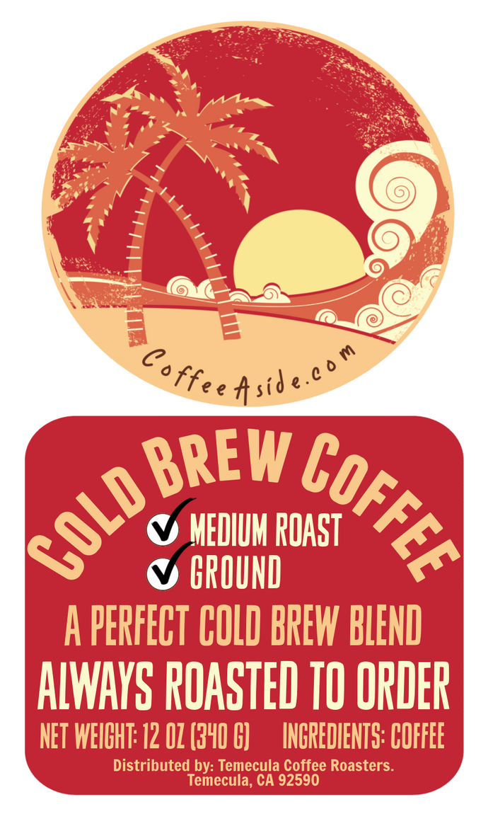 Cold Brew Coffee; 12oz. [FREE SHIPPING]