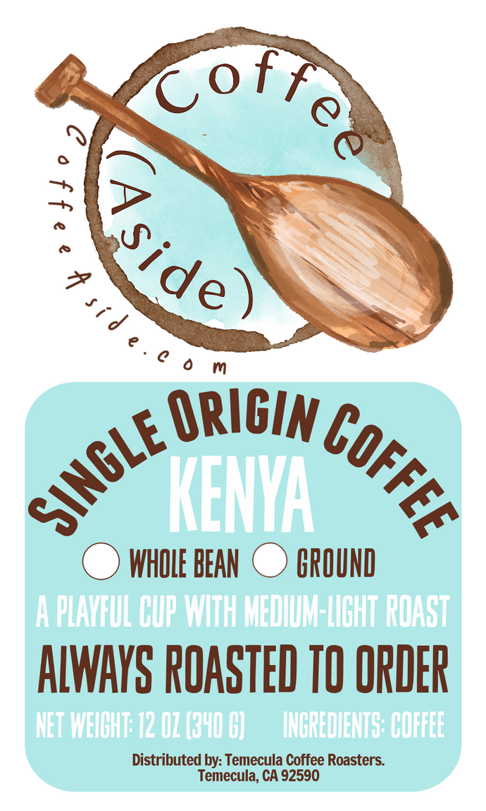 Kenya Single Origin; 12oz [FREE SHIPPING]