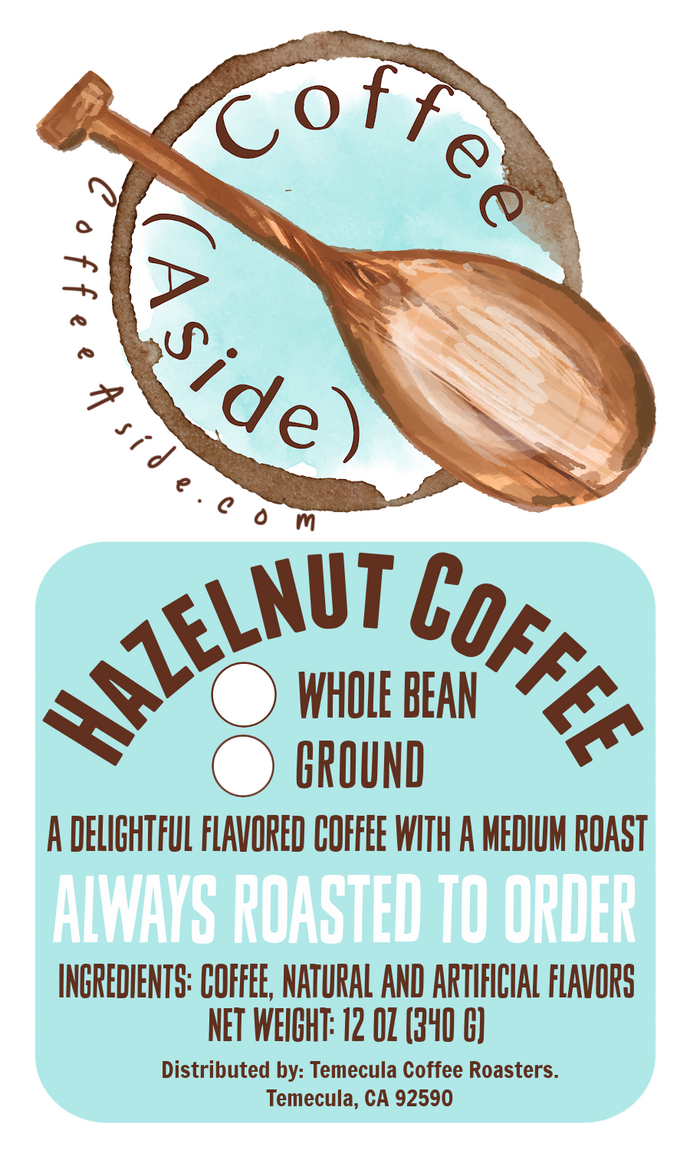 Hazelnut; 12oz. [FREE SHIPPING]