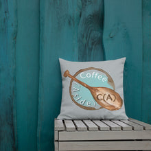 Load image into Gallery viewer, The Coffee (Aside) Premium Pillow (18x18)