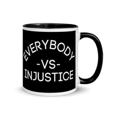 "Load image into Gallery viewer, ""Everybody VS Injustice"" Coffee Mug; 11oz"