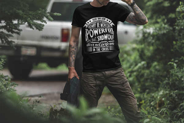 SadWolf Statement T-Shirt: »Circus« Herren Schwarz