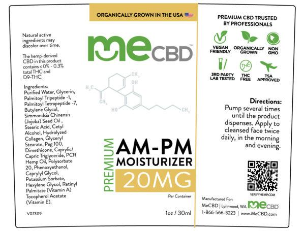 AM/PM CBD Facial Moisturizer - 1oz - The Hemp Dispense