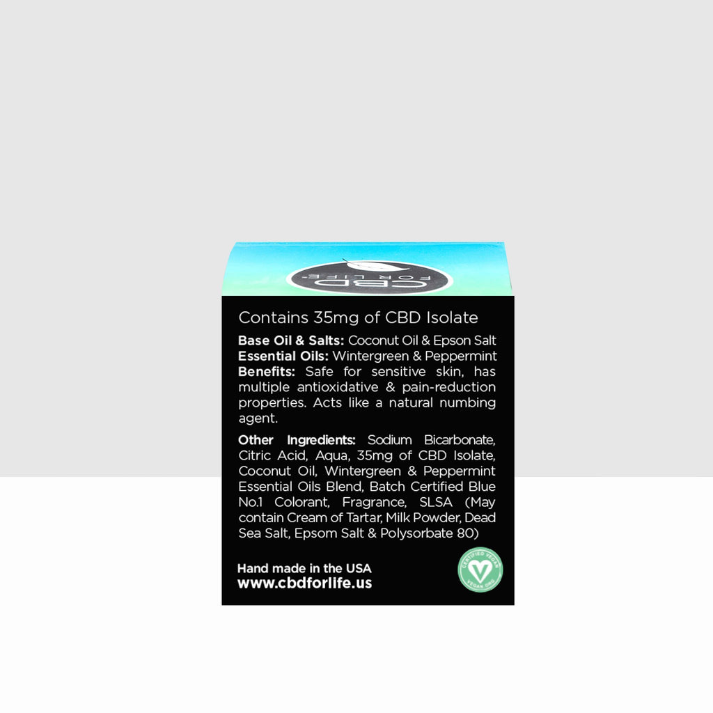 CBD Bath Bomb - 35mg Eucalyptus & Peppermint - CBD For Life - The Hemp Dispense