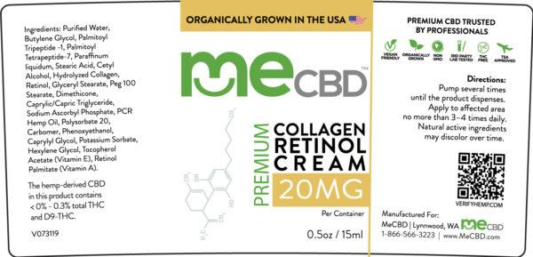 CBD Collagen Retinol Cream - 15ml - The Hemp Dispense
