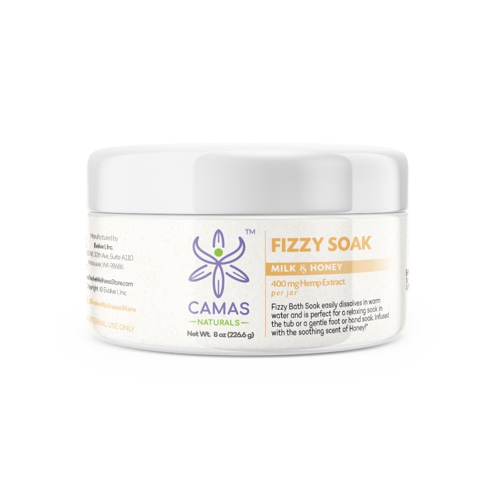 CBD Fizzy Soak - 400mg Milk & Honey - Camas Naturals - The Hemp Dispense